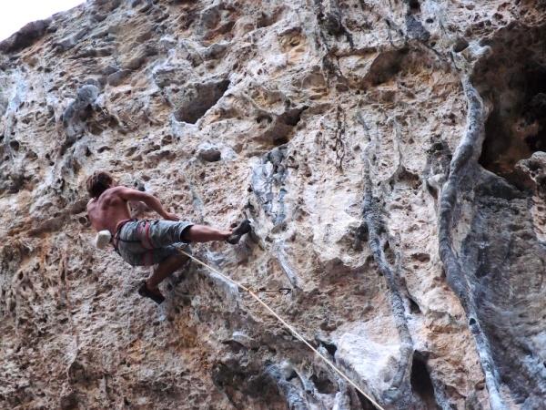 Trev on the steep part of Nanuk