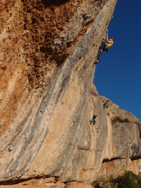 Chris crushing at Margalef