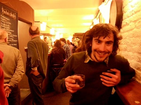 Glyn enjoying Pinchos in Barcelona