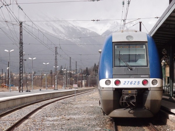 Latour de Carol train station in the Pyrenees