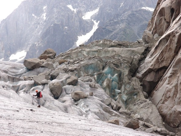 Adam on the Mer de Glace, just before you ascend the ladders off the glacier